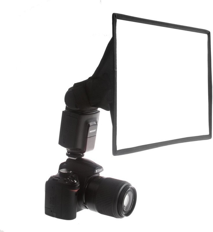 Saihan Portable Lambed Flash Softbox for diffusing light Canon, Nikon Diffuser(Black)