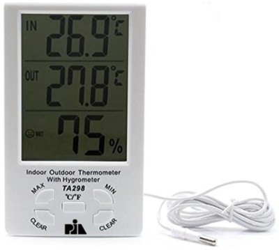Pia International Big Indoor-Outdoor Thermo Hygrometer Thermometer