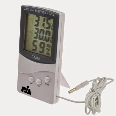 Pia International Medium Indoor-Outdoor Thermo Hygrometer Thermometer