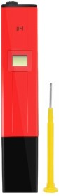 Shrih SH- 0927 Pen Type Digital Hydroponic Water pH Meter Thermometer(Red)