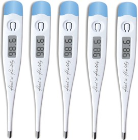 Healn Healthy Premium Quality (Pack of 5) Digital Thermometer(White)