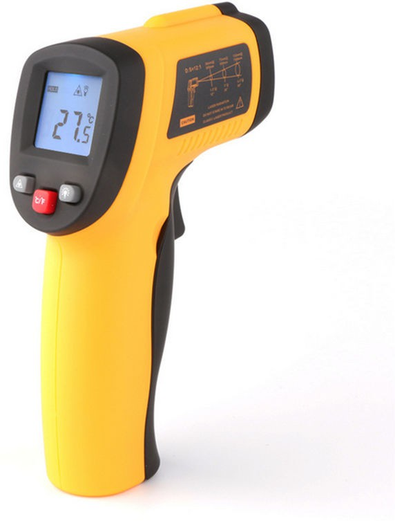 BS SPY INFRARED MULTI PURPOSE (KITCHEN USE ALSO) INSTANT DISPLAY TEMPERATURE (CAN BE USED FOR LIQUIDS) BS2 Thermometer(Yellow)