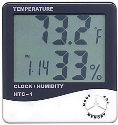 HTC HTC-1-2 Hygrometer Thermometer(Black, Grey)