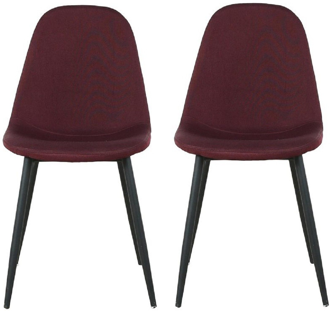 View Parin Metal Dining Chair(Set of 2, Finish Color - purple) Furniture (Parin)