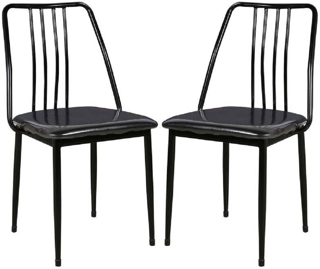View Parin Metal Dining Chair(Set of 2, Finish Color - black) Furniture (Parin)