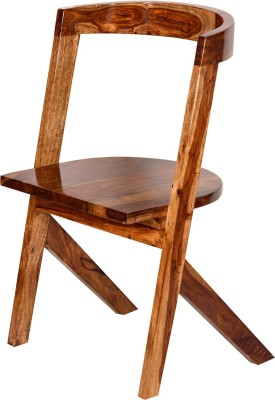 Induscraft Solid Wood Dining Chair(Set of 1, Finish Color - Brown)