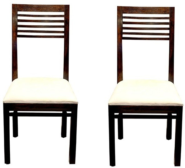 View Jivan Solid Wood Dining Chair(Set of 2, Finish Color - Walnut Brown) Furniture (Jivan)