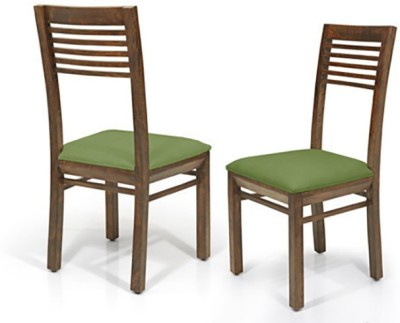 Urban Ladder Zella Solid Wood Dining Chair(Set of 2, Finish Color - Teak)