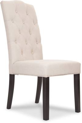 Durian JADE Fabric Dining Chair(Set of 1, Finish Color - Cream)