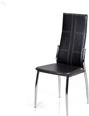 Royal Oak Geneva Leatherette Dining Chair(Set of 1, Finish Color - Black)