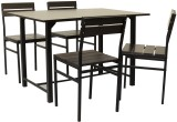 FurnitureKraft Wooden Top Metal Dining S...