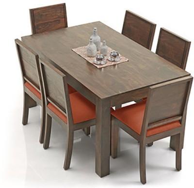 Urban Ladder Arabia - Oribi Solid Wood Dining Set(Finish Color - Teak)