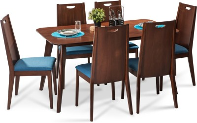 Durian GRIFFIN/A Solid Wood Dining Set(Finish Color - Walnut)
