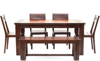 Tezerac Solid Wood Dining Set(Finish Color - Brown)