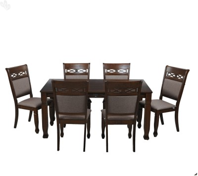 Royal Oak Lotus Solid Wood Dining Set(Finish Color - Honey Brown)