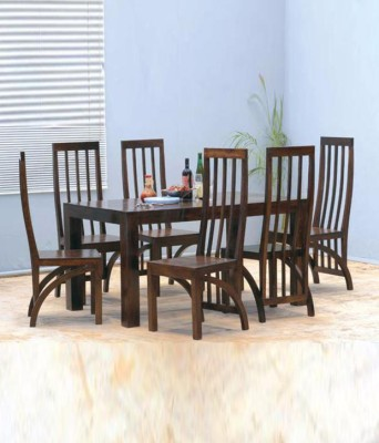The Attic Solid Wood Dining Set(Finish Color - Walnut)