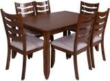 Evok Carlos Solid Wood Dining Set (Finis...