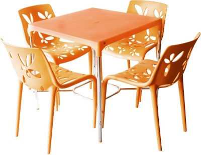 Cello Plastic Dining Set(Finish Color - Orange)