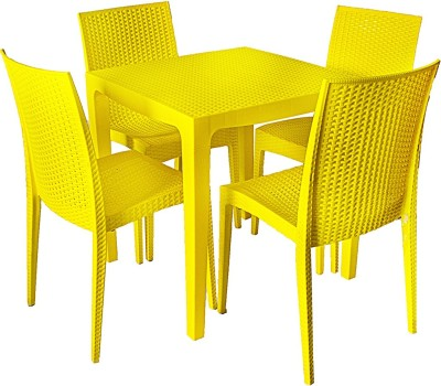 Cello Plastic Dining Set(Finish Color - Yellow)