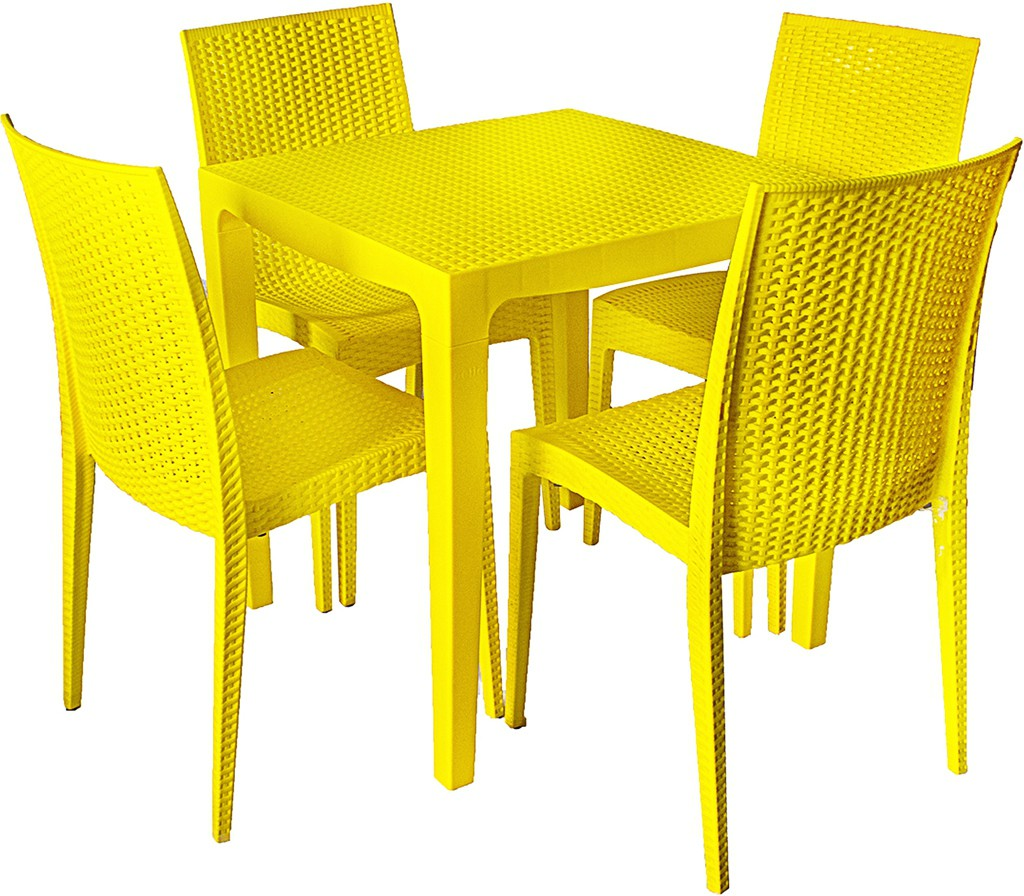 View Cello Plastic Dining Set(Finish Color - Yellow) Furniture (Cello)