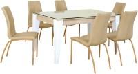 @home by Nilkamal Baalbek Engineered Wood 6 Seater Dining Set(Finish Color - Brown)