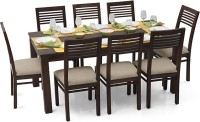 Urban Ladder Arabia XL - Zella Solid Wood 8 Seater Dining Set(Finish Color - Mahogany)