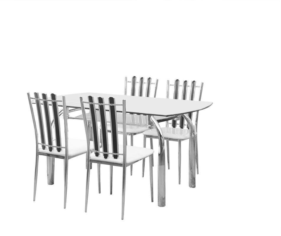 Nilkamal Chrysanta Metal Dining Set(Finish Color - Walnut