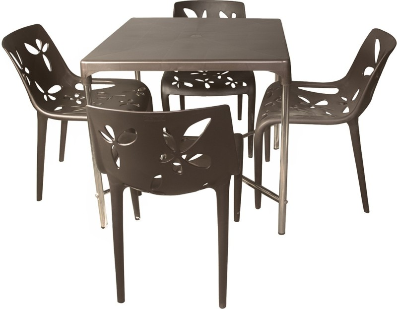 Cello Plastic Dining Set(Finish Color - Brown)