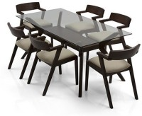 Urban Ladder Wesley - Thomson Solid Wood 6 Seater Dining Set(Finish Color - Dark Walnut)