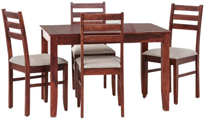 Smart Choice Furniture Rosewood (Sheesham)_JIDS10_Matte finish Solid Wood Dining Set