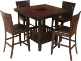 HomeTown Caren Solid Wood Dining Set (Fi...