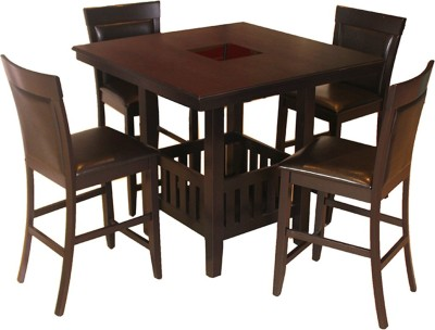 HomeTown Caren Solid Wood Dining Set(Finish Color - Cappuchino)