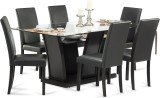 Durian FRASER Glass Dining Set (Finish C...