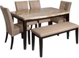 Evok Stella Solid Wood Dining Set (Finis...
