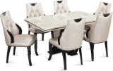 Durian FISHER Stone Dining Set (Finish C...
