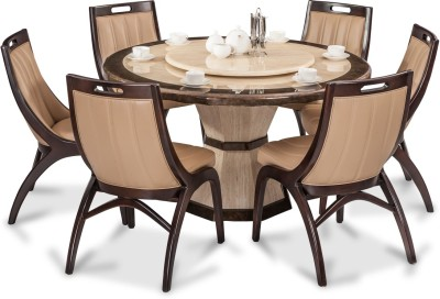 Durian FENG/35404 Stone Dining Set(Finish Color - Beige)