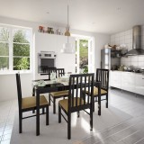 Woodpecker Solid Wood Dining Set (Finish...
