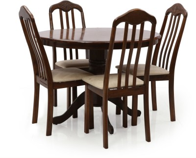 Evok Helena Solid Wood Dining Set(Finish Color - Brown)