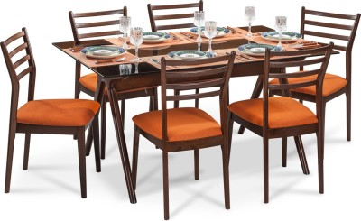 Durian SHEEN Solid Wood Dining Set(Finish Color - Walnut)