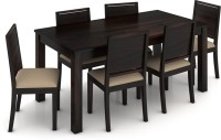 Urban Ladder Arabia XL Storage - Oribi Solid Wood 6 Seater Dining Set(Finish Color - Mahogany)