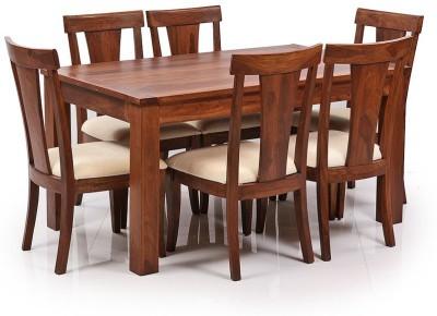 Ethnic Handicrafts Solid Wood Dining Set