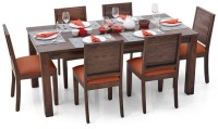 Urban Ladder Arabia XL - Oribi Solid Wood 6 Seater Dining Set(Finish Color - Teak)