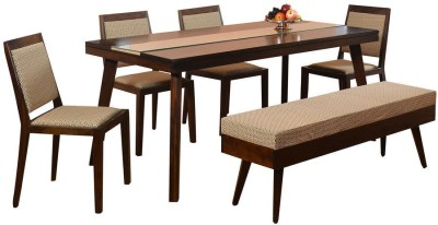 @home by Nilkamal Matrix Solid Wood Dining Set
