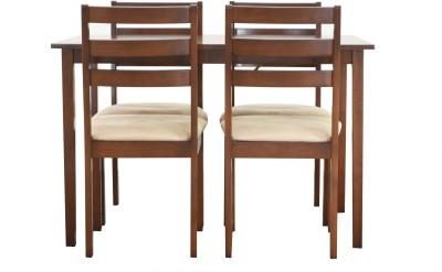 Nesta Furniture Chevron Solid Wood Dining Set