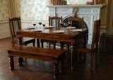 Indian Hub Solid Wood Dining Set (Finish...