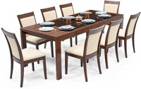 Urban Ladder Vanalen 6 - to - 8 Extendable - Dalla Solid Wood 8 Seater Dining Set(Finish Color - Dark Walnut)