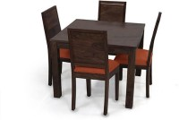 Urban Ladder Arabia Square - Oribi Solid Wood 4 Seater Dining Set(Finish Color - Mahogany)