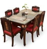 ExclusiveLane Teak Wood Solid Wood Dinin...
