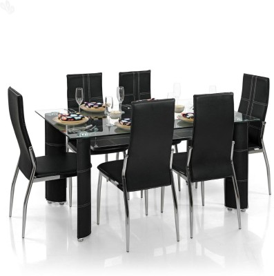 Royal Oak Geneva Metal Dining Set(Finish Color - Black)