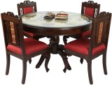 ExclusiveLane Solid Wood Dining Set (Fin...
